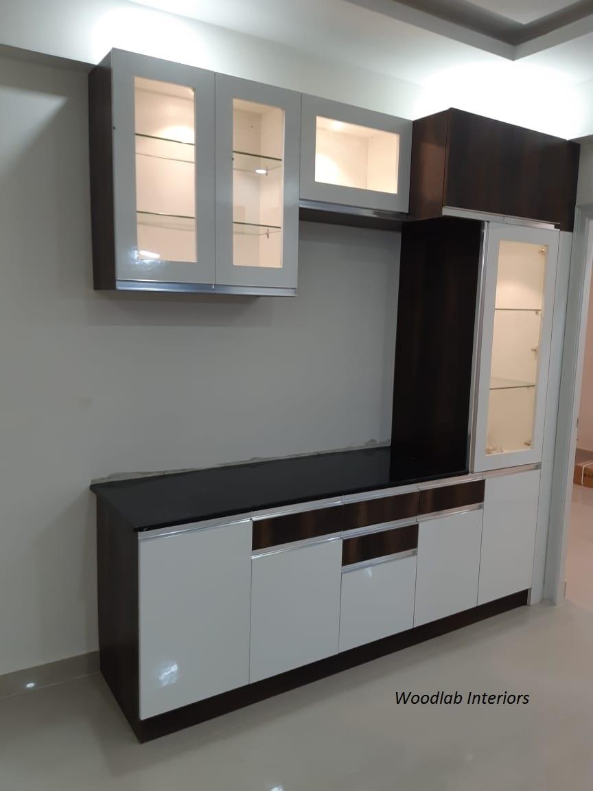 crockery unit designs , Woodlab Interiors